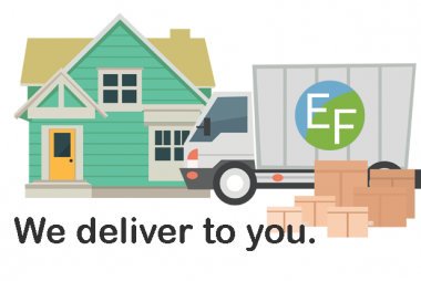 We deliver to you.