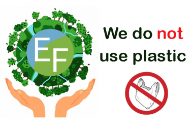 We do not use plastic
