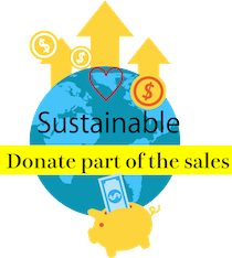 We donate part of the sales